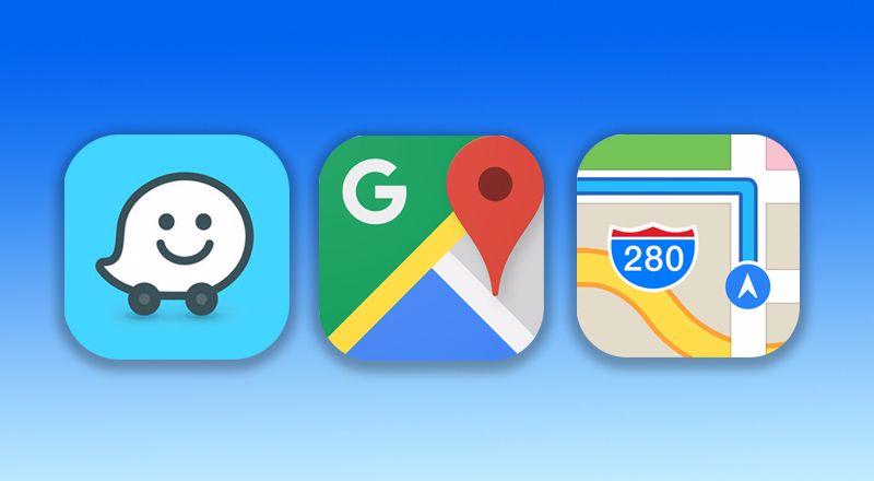 بررسی و مقایسه سه اپلیکیشنهای مسیریابی گوگل مپ، ویز و اپل مپ